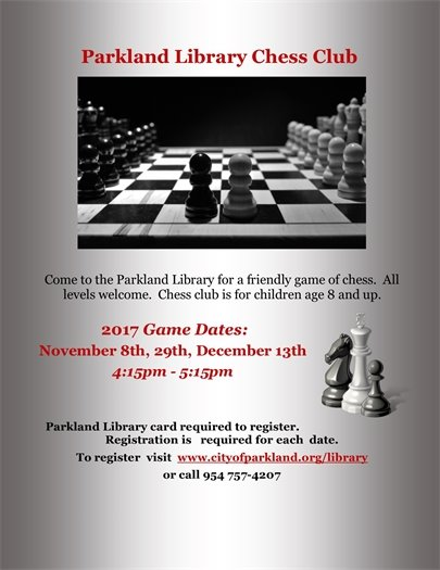 Chess Club at the Parkland Library