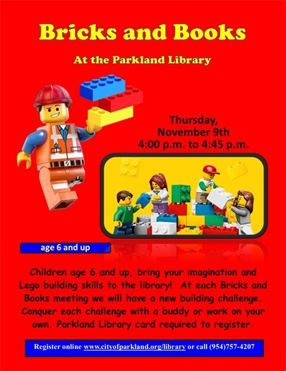 Bricks and Books at the Parkland Library