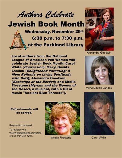 Jewish Book Month at the Parkland Library