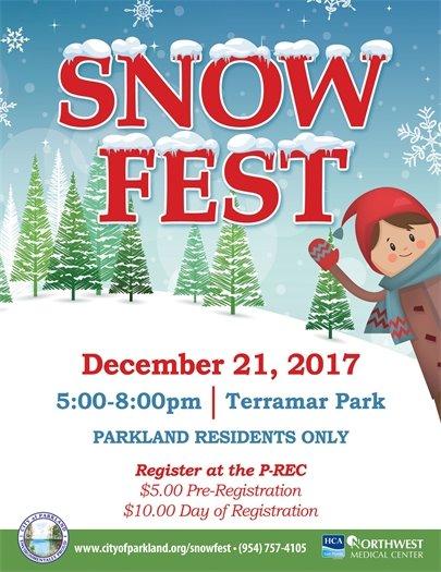 Parkland's Annual Snow Fest