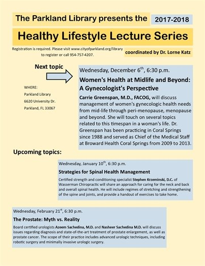 Healthy Lifestyle Lecture Series