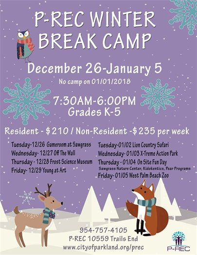 P-REC Winter Break Camp