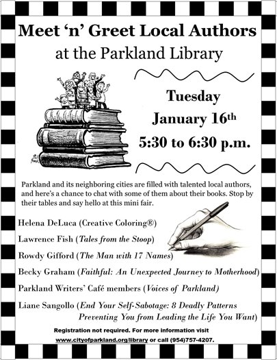 Meet 'n' Greet Local Authors at the Parkland Library