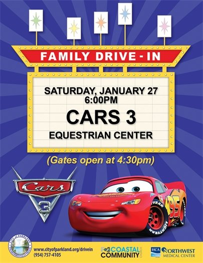 Drive-In Movie:  Cars 3