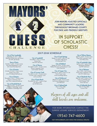 Mayors' Chess Challenge at the P-REC