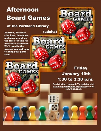 Board Games at the Parkland Library