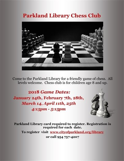 The Parkland Library Chess Club